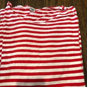Tops - Christina lehr red and white long sleeve shirt S